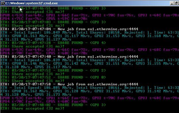 400MH/s 6 GPU Rig? — Ethereum Community Forum